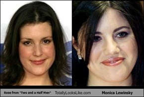 "Rose from ""Two and a Half Men"" Totally Looks Like Monica Lewinsky"