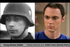Young German Soldier Totally Looks Like Sheldon Cooper (Big Bang Theory)