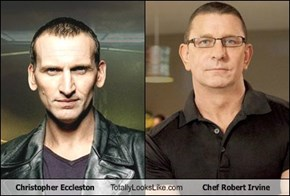 Christopher Eccleston Totally Looks Like Chef Robert Irvine