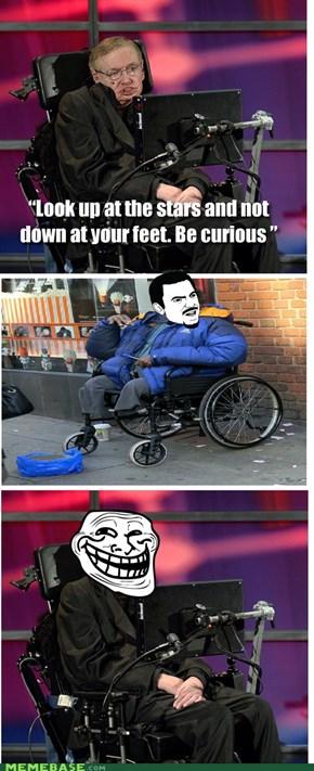 Naughty Mr Hawking!