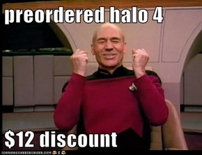 preordered halo 4  $12 discount
