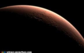Day Breaks Over Mars