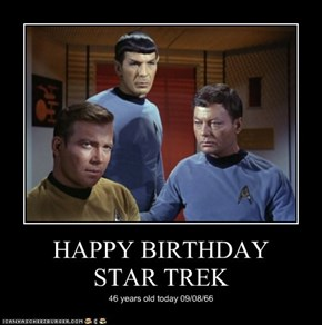 HAPPY BIRTHDAY  STAR TREK