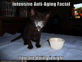 Intensive Anti-Aging Facial  You are doing it right