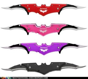 Batman Twin Blade Batarang Pocket Knife