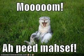 Mooooom!  Ah peed mahsef!