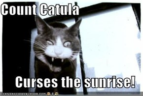Count Catula  Curses the sunrise!