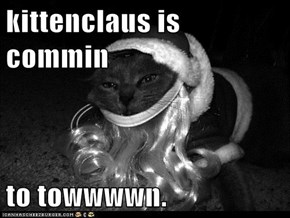 kittenclaus is commin  to towwwwn.