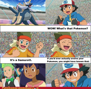 Ash hardly ever evolves his Pokemon