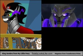 King Sombra from My Little Pony Totally Looks Like Megatron from Transformers Prime