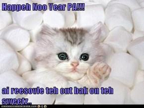 Happeh Noo Year PA!!!  ai reesovle teh cut bak on teh sweetz..