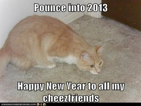Pounce into 2013  Happy New Year to all my cheezfriends
