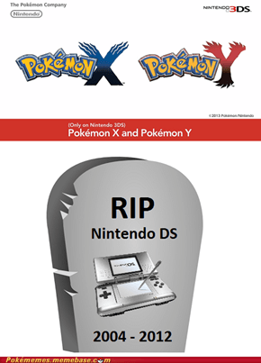 X and Y for 3DS = DS is Dead