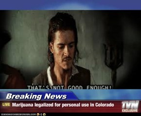 Breaking News - Marijuana legalized for personal use in Colorado