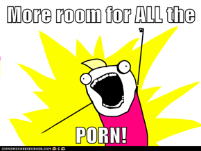 More room for ALL the  PORN!