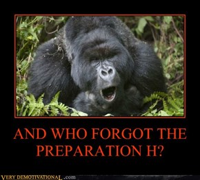 AND WHO FORGOT THE  PREPARATION H?