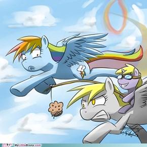 Derpy faster then Rainbowdash?