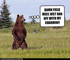 DAMN FIELD MICE JUST RAN OFF WITH MY CHARMIN!!