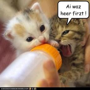 Ai waz heer firzt !