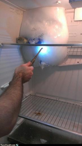 De-icing the refrigerator