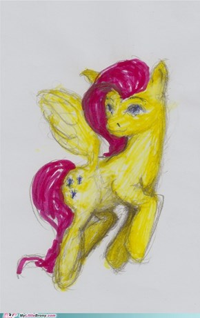 Fluttershy (first attempt in color)
