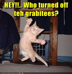 HEY!!.. Who turned off teh grabitees?