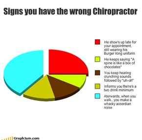 Signs you have the wrong Chiropractor