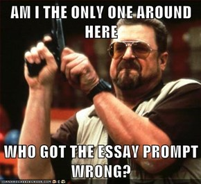 AM I THE ONLY ONE AROUND HERE  WHO GOT THE ESSAY PROMPT WRONG?