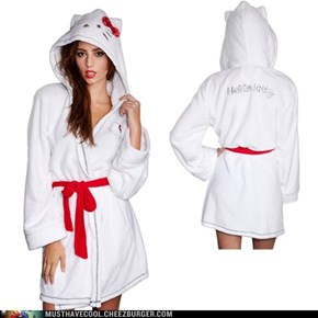 Hello Kitty White Robe