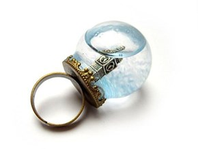 Big Ben Snowglobe Ring