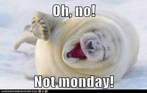 Oh, no!  Not monday!