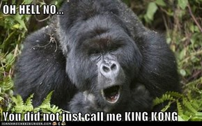 OH HELL NO...  You did not just call me KING KONG