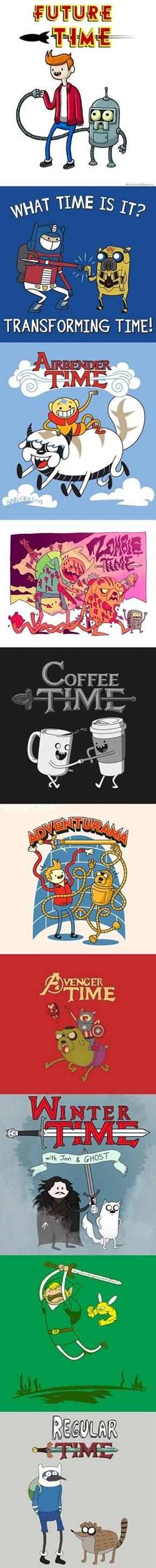 Adventure Time+ Multiple Other Fandoms=