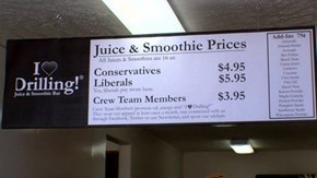 Resentment of the Day: Smoothie Shop Charges Liberals Extra