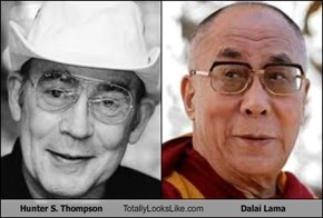 Hunter S. Thompson Totally Looks Like Dalai Lama
