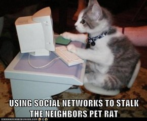 USING SOCIAL NETWORKS TO STALK THE NEIGHBORS PET RAT