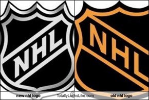 new nhl logo Totally Looks Like old nhl logo