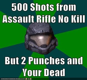 500 Shots from  Assault Rifle No Kill  But 2 Punches and Your Dead