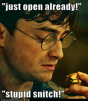 """""""just open already!""""   """"stupid snitch!"""""""