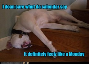I doan care whut da calendar say