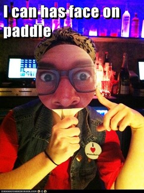 I can has face on paddle