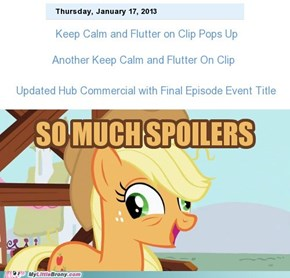 Spoilers, spoilers everywhere!