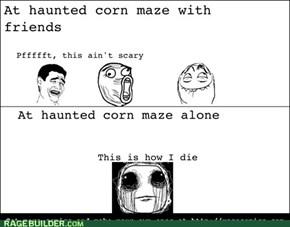 scary cornmazes