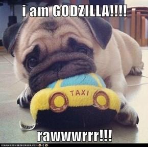 i am GODZILLA!!!!  rawwwrrr!!!