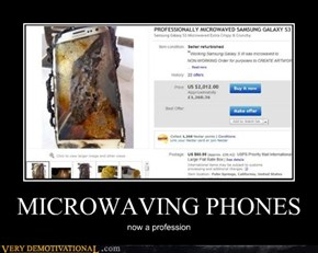 MICROWAVING PHONES