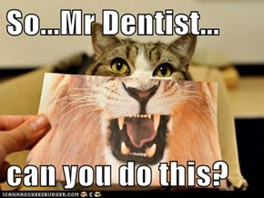 So...Mr Dentist...  can you do this?