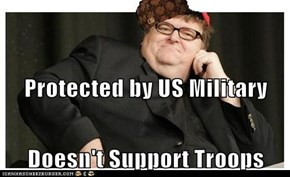 Protected by US Military Doesn't Support Troops