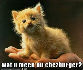 wat u meen nu chezburger?