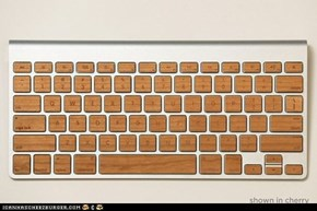 Lazerwood Keys add wooden tops to your apple keyboards.
