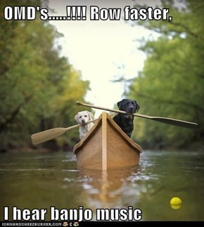 OMD's.....!!!! Row faster,  I hear banjo music